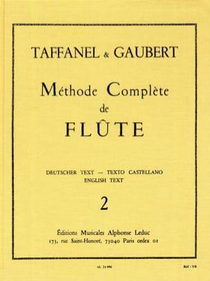 Méthode Complète de Flûte - Volume 2 TAFFANEL - GAUBERT laflutedepan