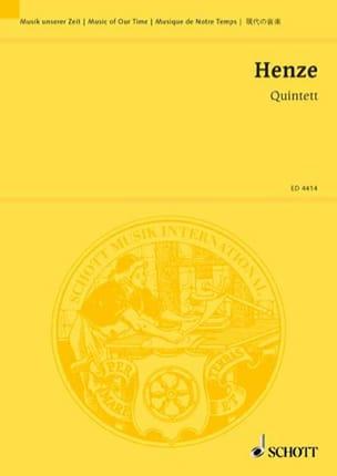 Quintett 1952 -Partitur Hans Werner Henze Partition laflutedepan