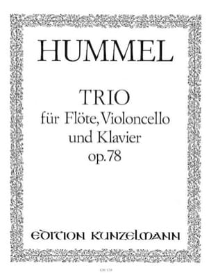 Trio op. 78 -Flöte Cello Klavier HUMMEL Partition laflutedepan
