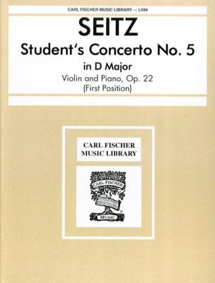 Student's Concerto n° 5 op. 22 in D major laflutedepan