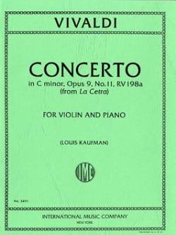 Concerto C minor op. 9 n° 11 - RV 198a - VIVALDI - laflutedepan.com