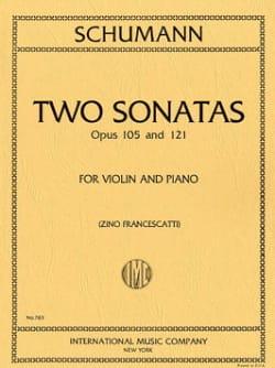 2 Sonatas op. 105 and op. 121 SCHUMANN Partition Violon - laflutedepan