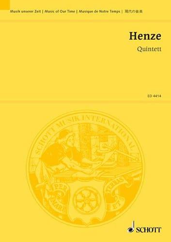 Quintett 1952 -Partitur - Hans Werner Henze - laflutedepan.com