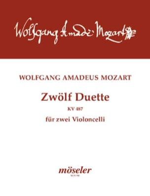 Zwölf Duette für zwei Violoncelli MOZART Partition laflutedepan