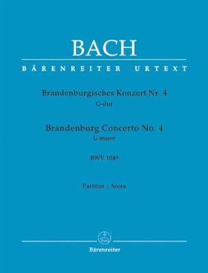 Brandenburgisches Konzert Nr. 4 G-dur, BWV 1049 - Conducteur laflutedepan