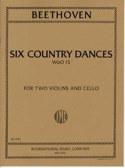 BEETHOVEN - 6 Country Dances - 2 Violins cello - Score Parts - Partition - di-arezzo.co.uk