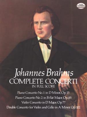 Complete Concerti - Full Score BRAHMS Partition laflutedepan