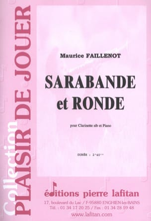Sarabande et Ronde Maurice Faillenot Partition laflutedepan