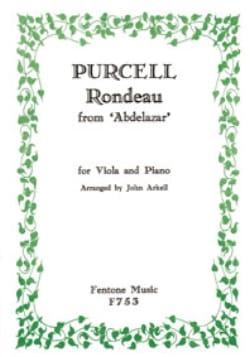 Rondeau d'Abdelazar -Viola piano PURCELL Partition laflutedepan
