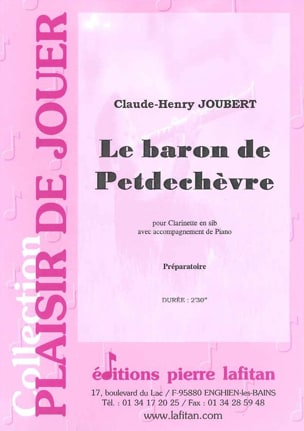Le Baron de Petdechèvre Claude-Henry Joubert Partition laflutedepan