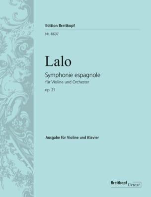 Edouard Lalo - Opera sinfonica spagnola 21 - Partition - di-arezzo.it
