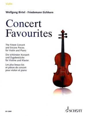 Concert Favourites Partition Violon - laflutedepan