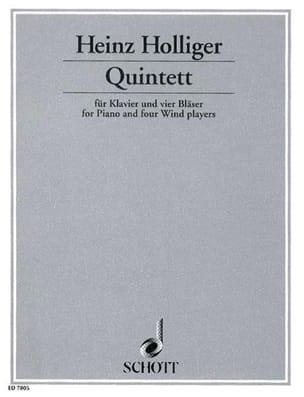 Quintett -Klavier 4 Bläser - Heinz Holliger - laflutedepan.com