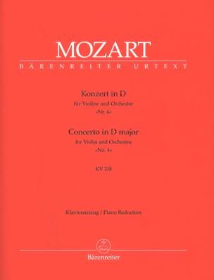 Concerto Violon n° 4 ré majeur KV 218 MOZART Partition laflutedepan