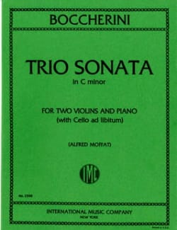 Trio sonata C minor - Parts BOCCHERINI Partition Trios - laflutedepan