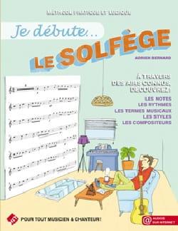 Je débute... le Solfège Adrien Bernard Partition laflutedepan