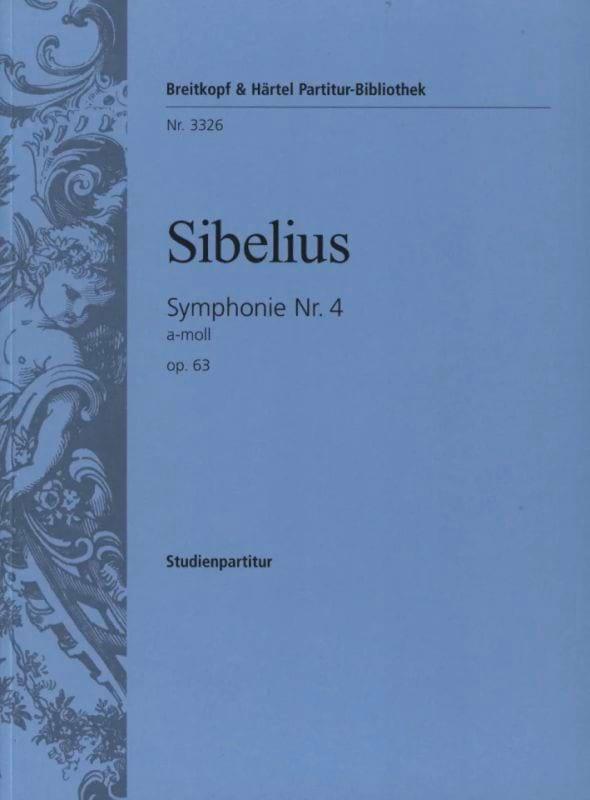 Symphonie N° 4 a-moll op. 63 - Partitur - SIBELIUS - laflutedepan.com