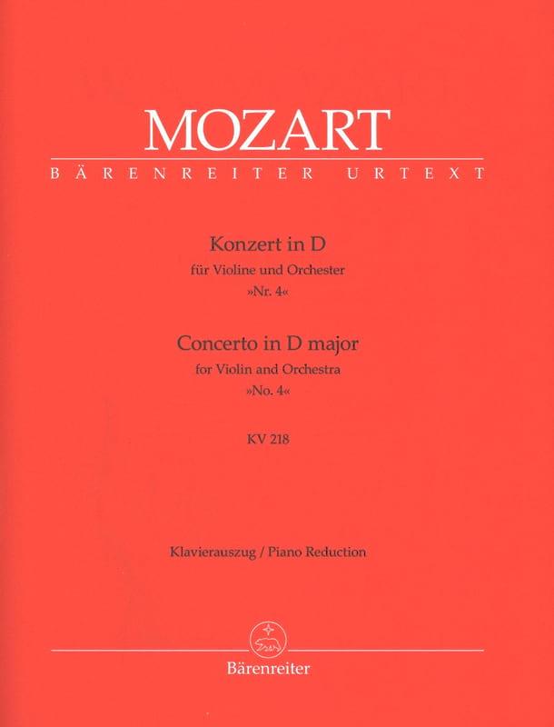 Concerto Violon n° 4 ré majeur KV 218 - MOZART - laflutedepan.com