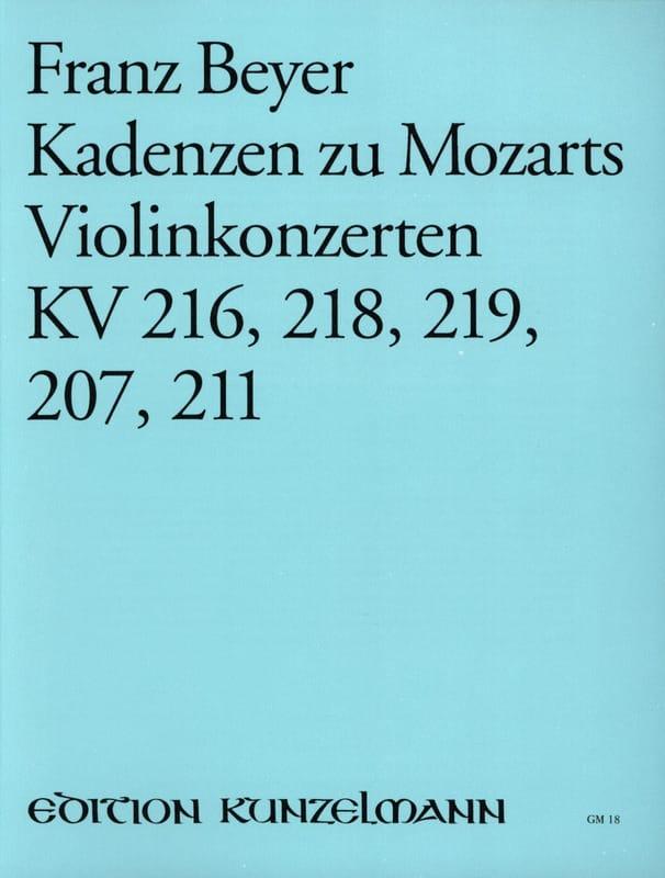 Kadenzen zu Mozarts Violinkonzerten KV 216, 218, 219, 207, 211 - laflutedepan.com