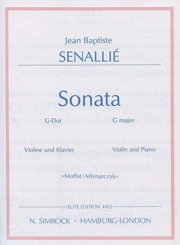 Sonata G-Dur - Jean-Baptiste Senaillé - Partition - laflutedepan.com