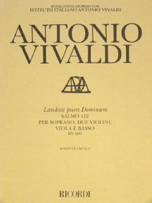 Laudate pueri Dominum RV 600 - Partitura - VIVALDI - laflutedepan.com