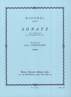 Sonate - clarinette HAENDEL Partition Clarinette - laflutedepan