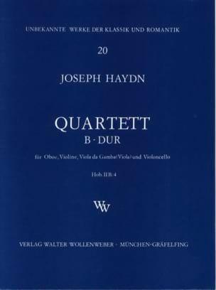 Quartett B-Dur Hob 2 : B4 -Oboe Violine Viola da gamba Cello laflutedepan