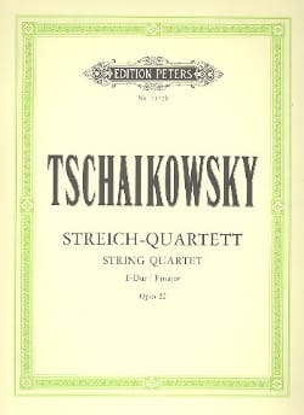 TCHAIKOVSKY - Streichquartett F-Dur op. 22 - Stimmen - Partition - di-arezzo.co.uk