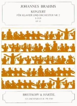 Klavierkonzert Nr 2 B-Dur, Opus 83 BRAHMS Partition laflutedepan