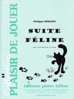 Suite féline Philippe Oprandi Partition Clarinette - laflutedepan