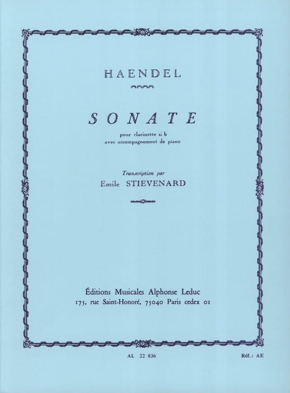Sonate - clarinette - HAENDEL - Partition - laflutedepan.com