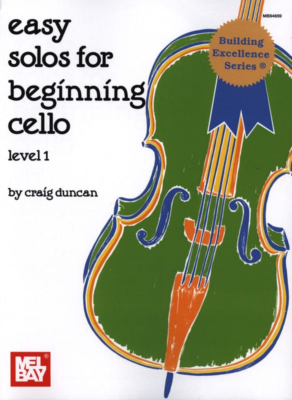 Easy Solos for beginning Cello - Level 1 - laflutedepan.com