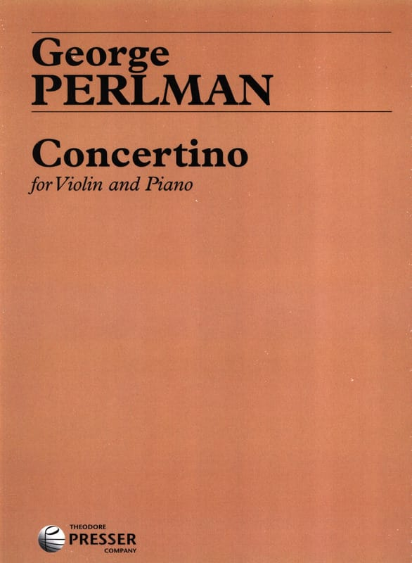 Concertino - George Perlman - Partition - Violon - laflutedepan.com