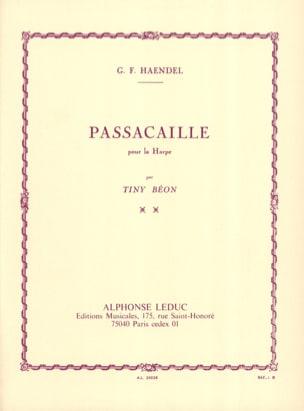 Passacaille - Harpe HAENDEL Partition Harpe - laflutedepan