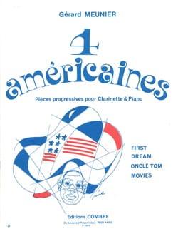 4 Américaines Gérard Meunier Partition Clarinette - laflutedepan