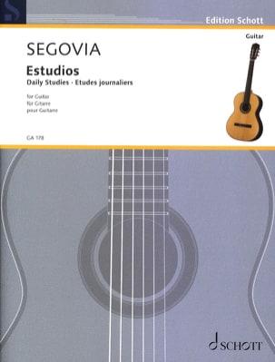Etudes Journalières Andrés Segovia Partition Guitare - laflutedepan