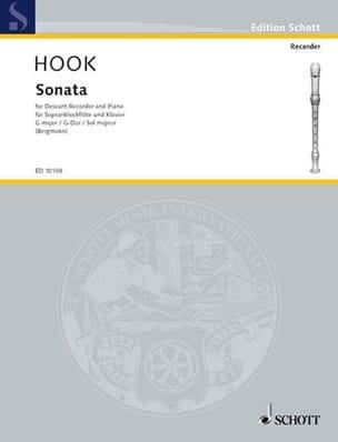 Sonata G-Dur - Sopranblockflöte u. Klavier James Hook laflutedepan