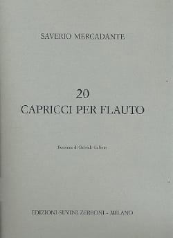 20 Caprici per flauto Saverio Mercadante Partition laflutedepan