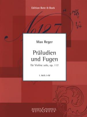 Präludien und Fugen op. 117, Heft 1 Max Reger Partition laflutedepan