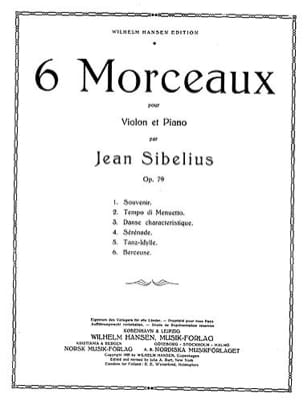 Berceuse op. 79 n° 6 SIBELIUS Partition Violon - laflutedepan