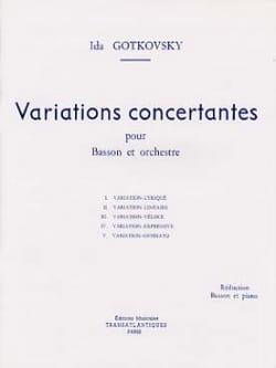 Variations concertantes Ida Gotkovsky Partition Basson - laflutedepan