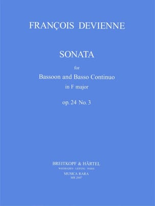 Sonata F Major Op. 24 N° 3 DEVIENNE Partition Basson - laflutedepan