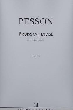 Bruissant Divisé Gérard Pesson Partition 0 - laflutedepan