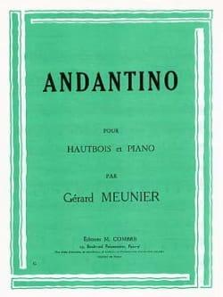 Andantino Gérard Meunier Partition Hautbois - laflutedepan