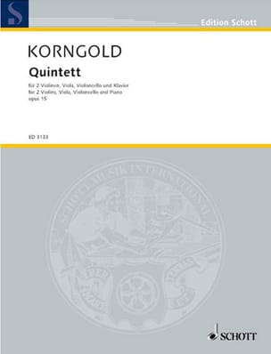 Quintett op. 15 -Partitur + Stimmen KORNGOLD Partition laflutedepan