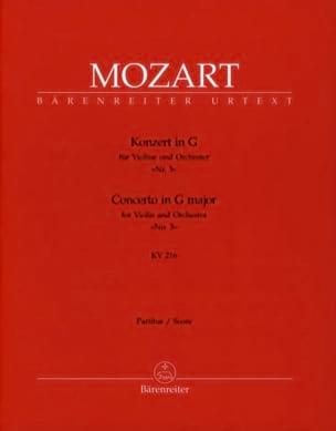 Concerto pour violon en Sol Majeur KV 216 - Partitur laflutedepan