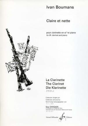 Claire et nette Ivan Boumans Partition Clarinette - laflutedepan