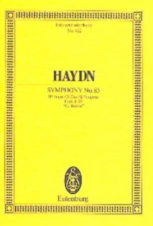Sinfonie Nr. 85 B-Dur - HAYDN - Partition - laflutedepan.com