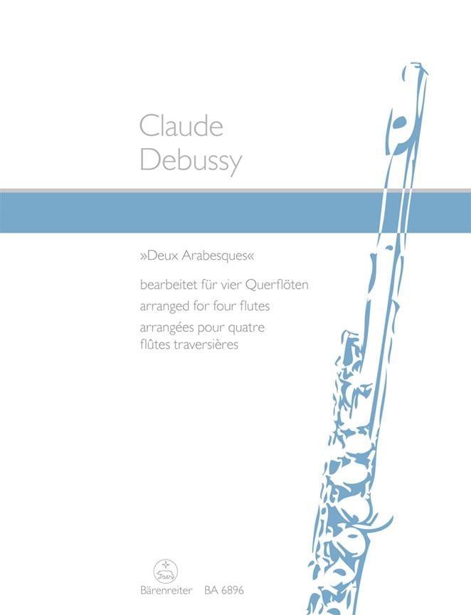 Deux arabesques - 4 Flöten - DEBUSSY - Partition - laflutedepan.com