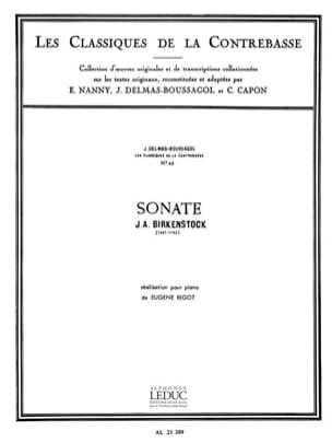 Sonate Birckenstock Johann Adam / Delmas-Boussagol J. laflutedepan